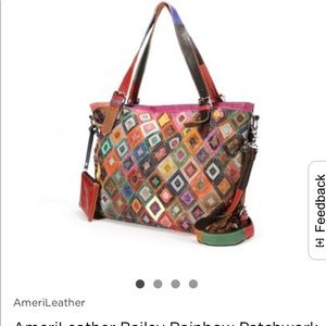 AmeriLeather Patchwork Convertible Tote